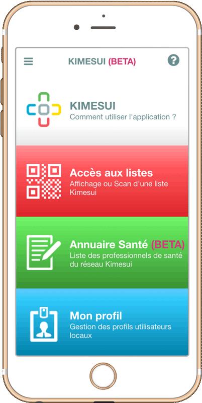 L'application Kimesui